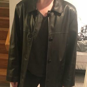 butter soft pea coat style leather jacket